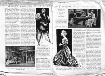 The Bystander Review of Paul Robeson, Sybil Thorndike and Peggy Ashcroft in Othello at the Savoy Theatre May 1930